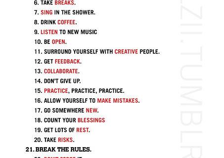 29 caminos para ser creativo