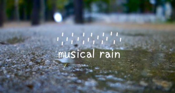 Lluvia musical gracias a un paraguas