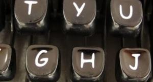 Maquina de escribir comic sans