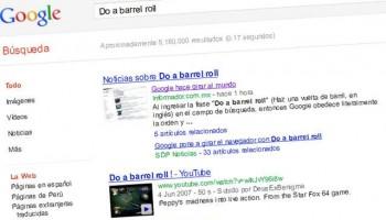 Do a barrel roll google