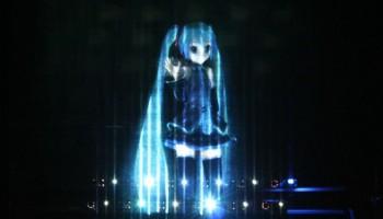 Miku Hatsune 3D holograma