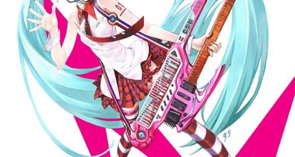 Miku Hatsune dibujada por Sadamoto