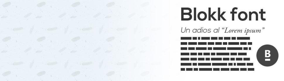 block-font