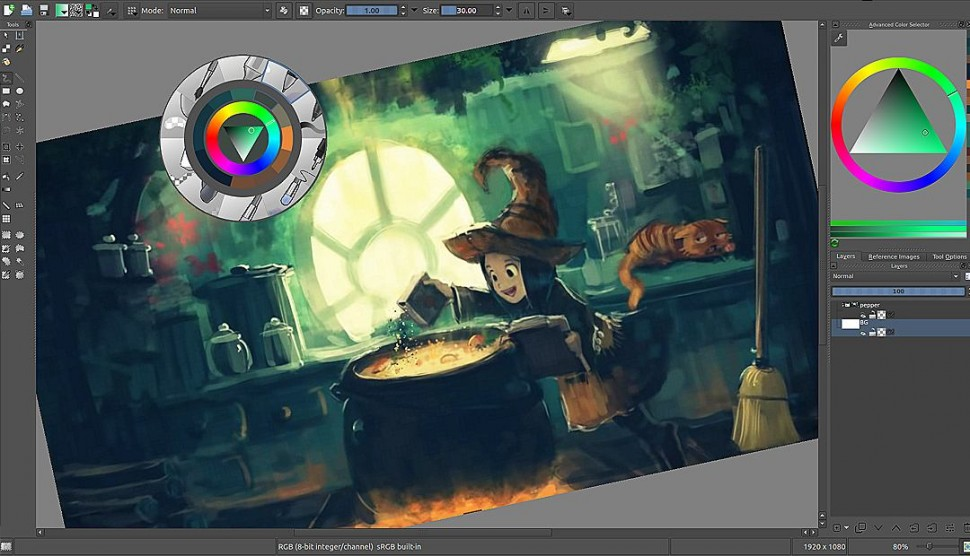 Krita - user-interface